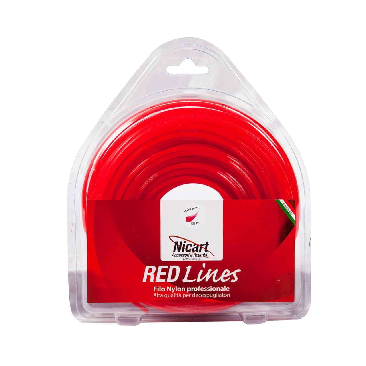 Filo per decespugliatori 50metri Red Lines Nicart